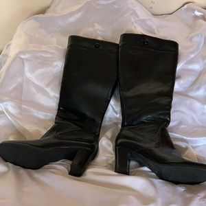 Naturalizer black knee-high boots